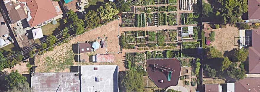 A little more than 2,400 square feet is fallow and could potentially be used as on-site parking, like other community gardens.
